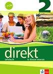 Direkt - ниво 2 (B1): Учебник за 8. клас + 3 CD : Учебна система по немски език - Giorgio Motta, Beata Cwikowska -