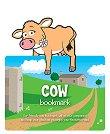 Разделител за книга с животни от стопанския двор - Крава - аксесоар