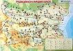 Двустранно табло по човекът и обществото за 4. клас : Карта на природните области - Трудови дейности в природните области - табло