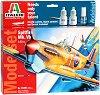 Военен самолет - Spitfire MK.VB - Сглобяем авиомодел - комплект с лепило и бои -