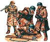 Немски войници - Комплект от четири сглобяеми фигури -