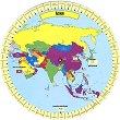 Опознай държавите и континентите - Азия -