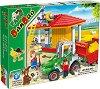 Ферма и трактор с ремарке - Детски конструктор -