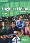 English in Mind - Second Edition: Учебна система по английски език : Ниво 2 (A2 - B1): Учебник + DVD-ROM - Herbert Puchta, Jeff Stranks - книга