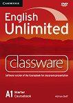 English Unlimited - Starter (A1): DVD-ROM по английски език с интерактивна версия на учебника - Adrian Doff -
