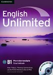 English Unlimited - Pre-intermediate (B1): Учебник по английски език + DVD-ROM - Alex Tilbury, Theresa Clementson, Leslie Anne Hendra, David Rea - учебна тетрадка