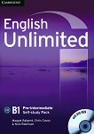 English Unlimited - Pre-intermediate (B1): Учебна тетрадка по английски език + DVD-ROM - Maggie Baigent, Chris Cavey, Nick Robinson - продукт