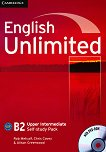 English Unlimited - Upper Intermediate (B2): Учебна тетрадка по английски език + DVD-ROM - Rob Metcalf, Chris Cavey, Alison Greenwood - учебна тетрадка