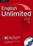 English Unlimited - Upper-Intermediate (B2): Книга за учителя по английски език + DVD-ROM - Alex Tilbury, Leslie Anne Hendra, Sarah Ackroyd -