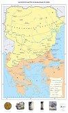 Българското ханство на Долни Дунав (VII - IX век) - Стенна карта -