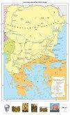 България и Византия през ІХ - Х век - Стенна карта -