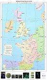 Франция и Англия през XII - XIV век - Стенна карта - М 1:1 500 000 -