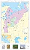 Московското княжество през XIV - XV век - Стенна карта -