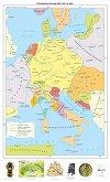 Германия и Италия през XIV - XV век - Стенна карта -