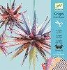 Киригами - Хартиени звезди - Творчески комплект -