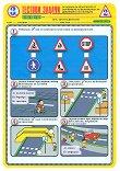 Тестови задачи по безопасност на движението по пътищата: Тестова карта за 3. клас - 2. срок - Комплект от 10 броя -