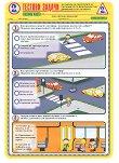 Тестови задачи по безопасност на движението по пътищата: Тестова карта за 2. клас - 2. срок - Комплект от 10 броя -