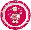 Детска меламинова чиния - Шнуги - За бебета над 6 месеца -