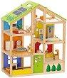 Обзаведена къща за кукли - Сезони - Дървена играчка -