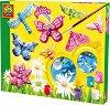 Създай и оцвети - Пеперуди - Творчески комплект -