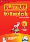 Playway to English - ниво 1: Книга с материали за учителя по английски език + CD : Second Edition - Herbert Puchta, Gunter Gerngross, Garan Holcombe -