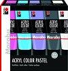 Акрилна боя - AcrylColor - Комплект от 5 цвята x 100 ml -