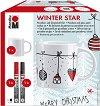 Маркери за порцелан - Winter Star - Комплект за декориране с чаша -