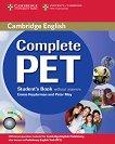 Complete PET - ниво B1: Учебник по английски език за международния изпит PET + CD-ROM - Emma Heyderman, Peter May -