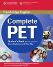 Complete PET - ниво B1: Учебник по английски език за международния изпит PET + CD-ROM -