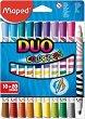 Флумастери - Color Peps Duo - Комплект от 20 цвята -