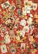 Декупажна хартия - Писма на червен фон 033 - Дизайн на Anne Zada