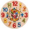 Клоун - Дървен пъзел - часовник -