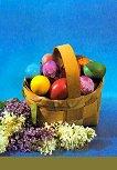 Поздравителна картичка - Великденска кошница -