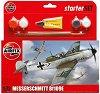 Военен самолет - Messerschmitt BF109E - Сглобяем авиомодел - комплект с лепило и боички -