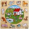 Фермата - Дървен образователен пъзел -