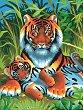 Нарисувай сам шедьовър - Тигри - Творчески комплект -