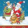 Салфетки - Дядо Коледа - Пакет от 20 броя -