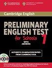 Cambridge Preliminary English Test for Schools - ниво B1: Учебник по английски език за международния изпит PET + CD : First Edition -