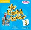The English Ladder: Учебна система по английски език Ниво 3: 3 CD с аудиоматериали за упражненията от учебника -
