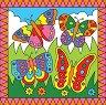 Оцветявай по номера - Пеперуди и езеро с лилии -