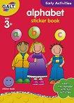 Galt: Английската азбука - образователна книжка със стикери Alphabet - sticker book -