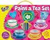 Нарисувай сам - Сервиз за чай - Творчески комплект за рисуване -
