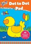 Galt: Точка по точка - книжка за оцветяване Dot to Dot Pad - детска книга