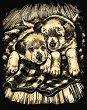 Създай сам златиста гравюра - Кученца - Творчески комплект -
