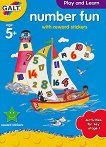 Galt: Забавни цифри - образователна книжка със стикери : Number fun - book with reward stickers -