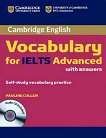 Cambridge Vocabulary for IELTS - Ниво Advanced: Книга с отговори + CD - Pauline Cullen - книга