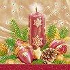Салфетки за декупаж - Коледна свещ - Пакет от 20 броя -