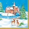 Салфетки за декупаж - Коледен пейзаж - Пакет от 20 броя -