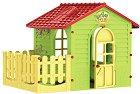 Детска сглобяема къща за игра с ограда -