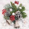 Салфетки за декупаж - Снежна украса - Пакет от 20 броя -